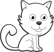 Cat Outline Images.