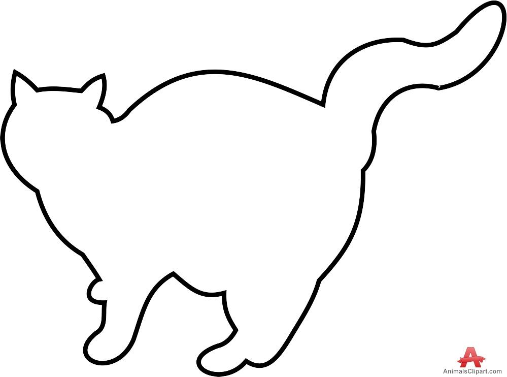 Cat Outline Clipart.