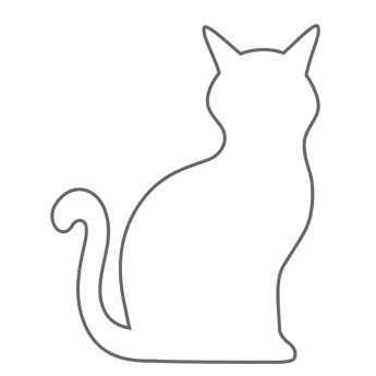 cat outline clipart - Clipground