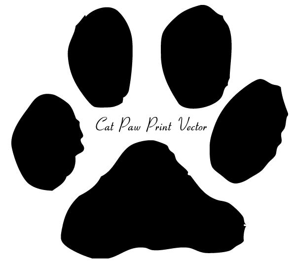 Cat Paw Print Clip Art Image.
