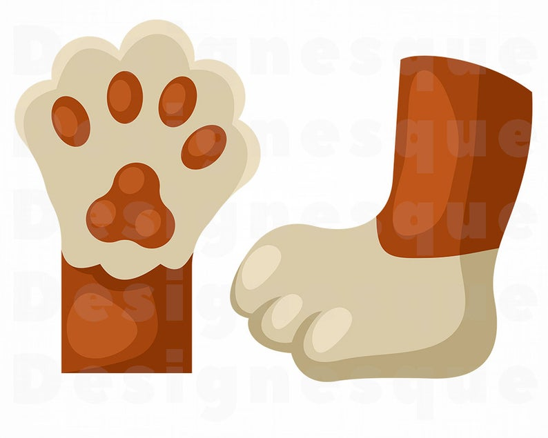 Cat Paw SVG, Cat Paws SVG, Cat Paw Clipart, Cat Paw Files for Cricut, Cat  Paw Cut Files For Silhouette, Cat Paw Dxf, Png, Eps, Vector.