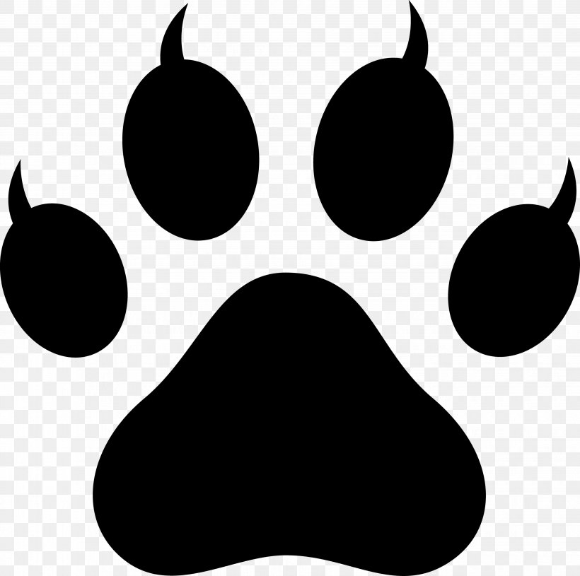 Dog Cat Paw Tiger Clip Art, PNG, 3873x3852px, Dog, Black.