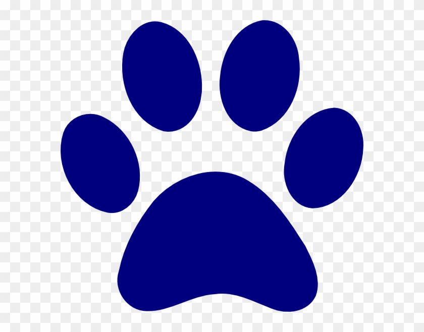 Cat Paw Png Navy Blue.