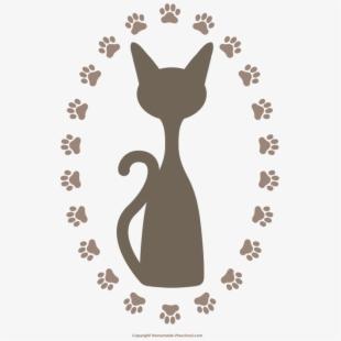Cat Paw Prints Clipart.