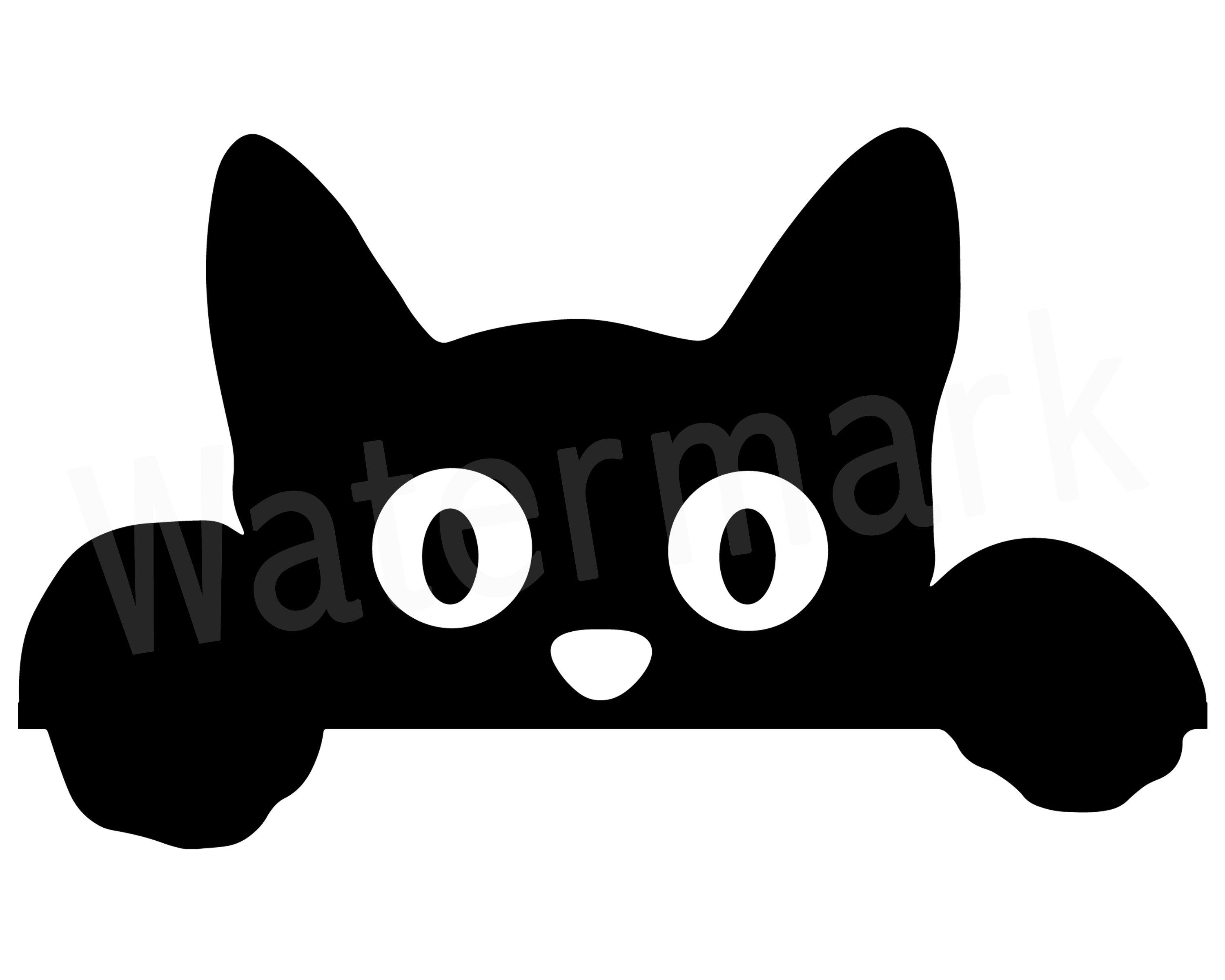 Peeking Cat SVG, Peeking Cat Clipart, Cat Mum SVG, Fur Mom.