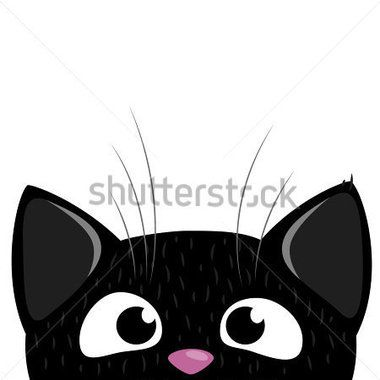 Peeking Out Curious Cat stock vector.