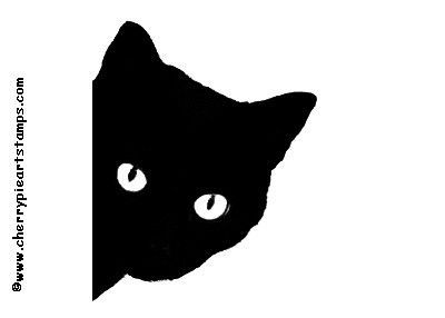 Black Cat Peeking Over A Ledge Royalty Free Picture Clipart.