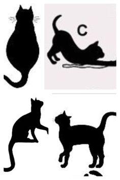 DIY: Cat Silhouette Pillow Cases.