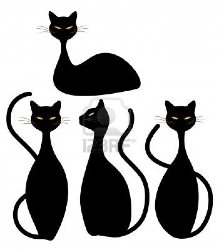 1000+ images about Silhouette cats on Pinterest.