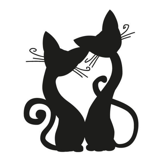 Wandtattoo Katzen.