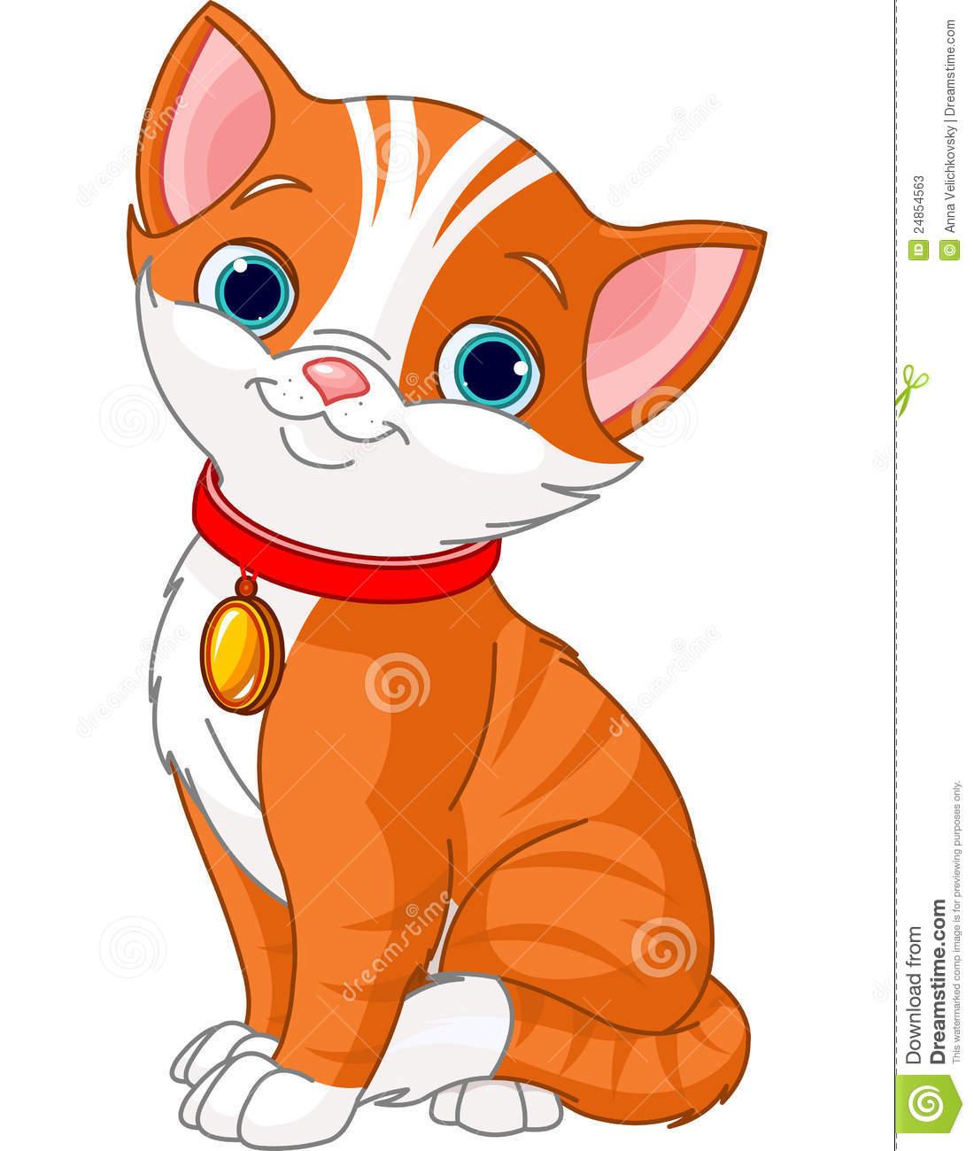838 Cute Cat free clipart.