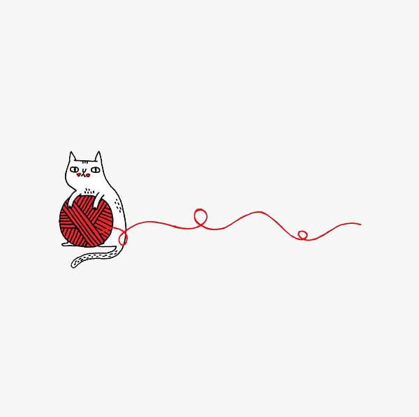 Cartoon Cat Playing With Yarn PNG, Clipart, Animal, Cartoon.