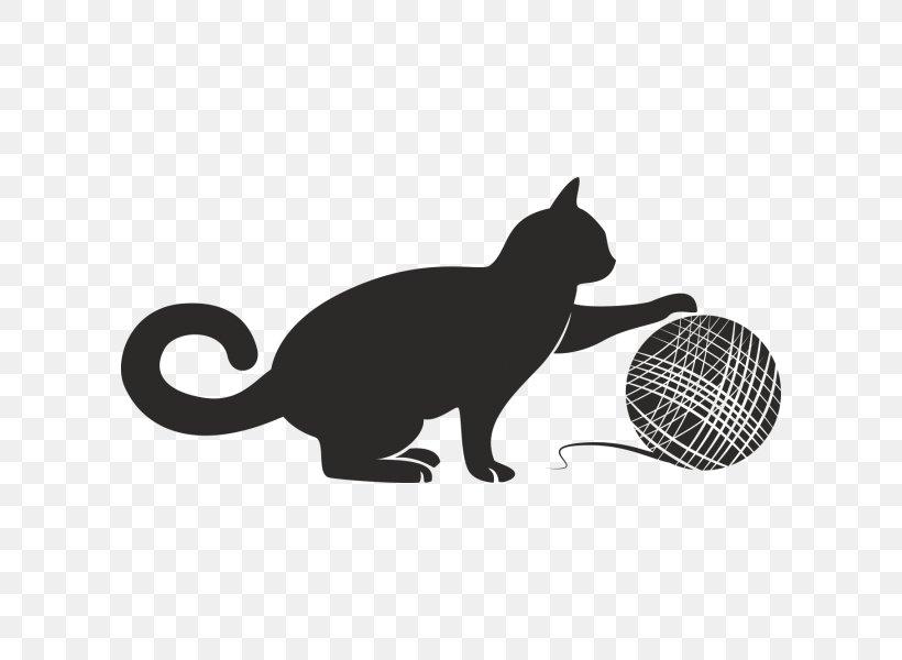 Cat Kitten Yarn Clip Art, PNG, 600x600px, Cat, Black, Black.