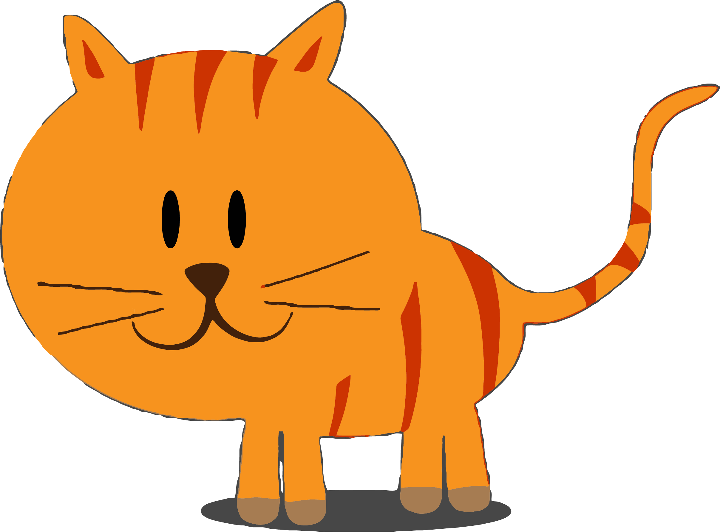 HD Happy Kitty Cat Clipart Png.