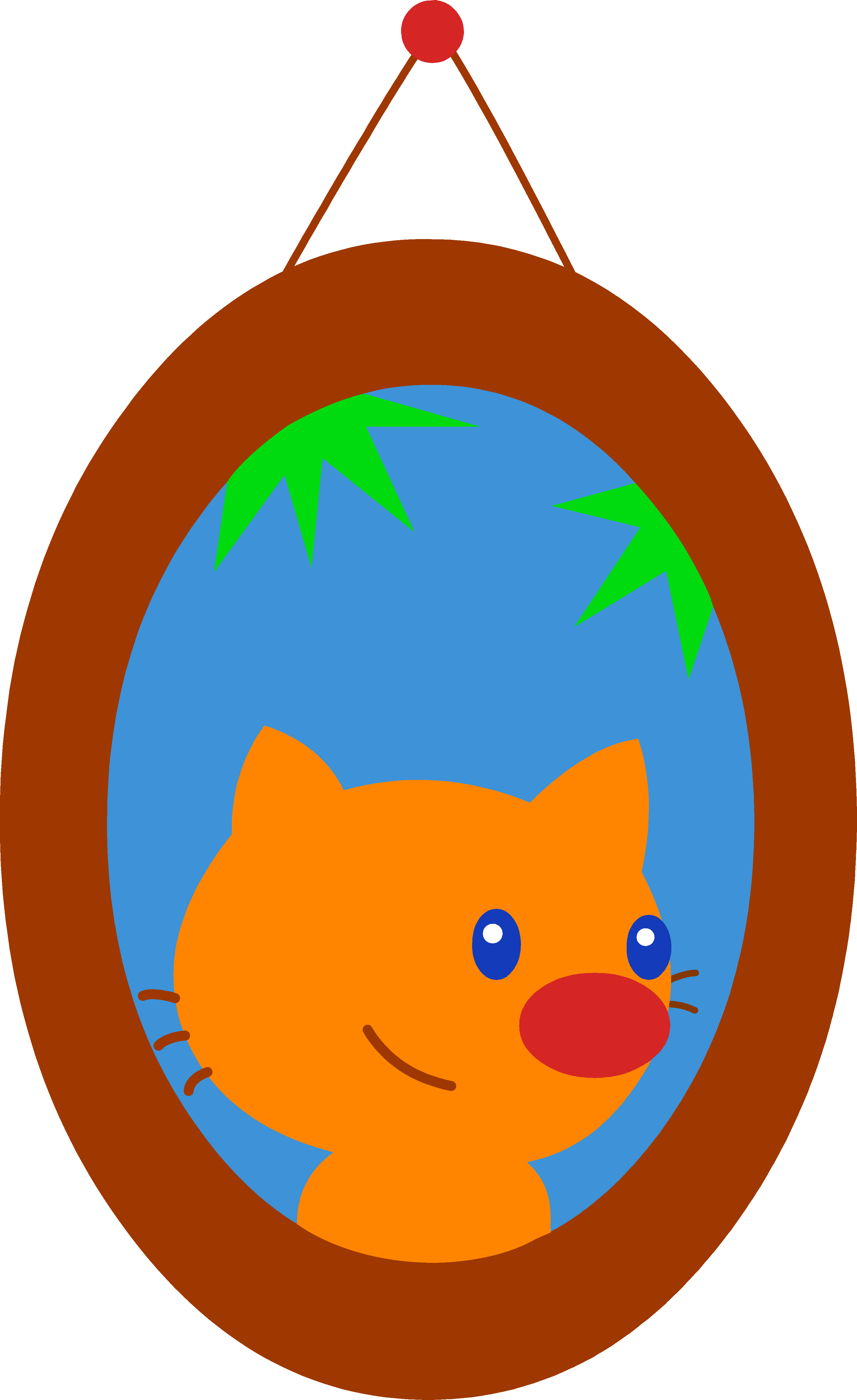 Portrait of Orange Pet Cat.