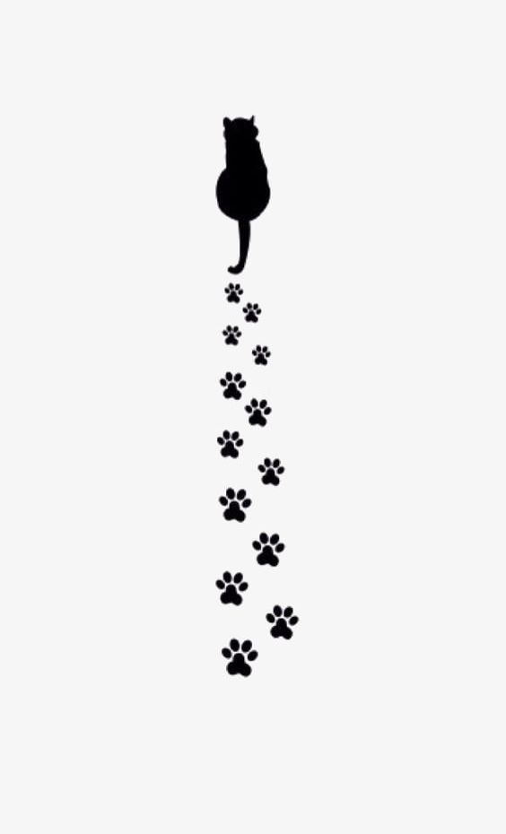 Cat Paw Prints PNG, Clipart, Black, Black Cat, Black Paw.