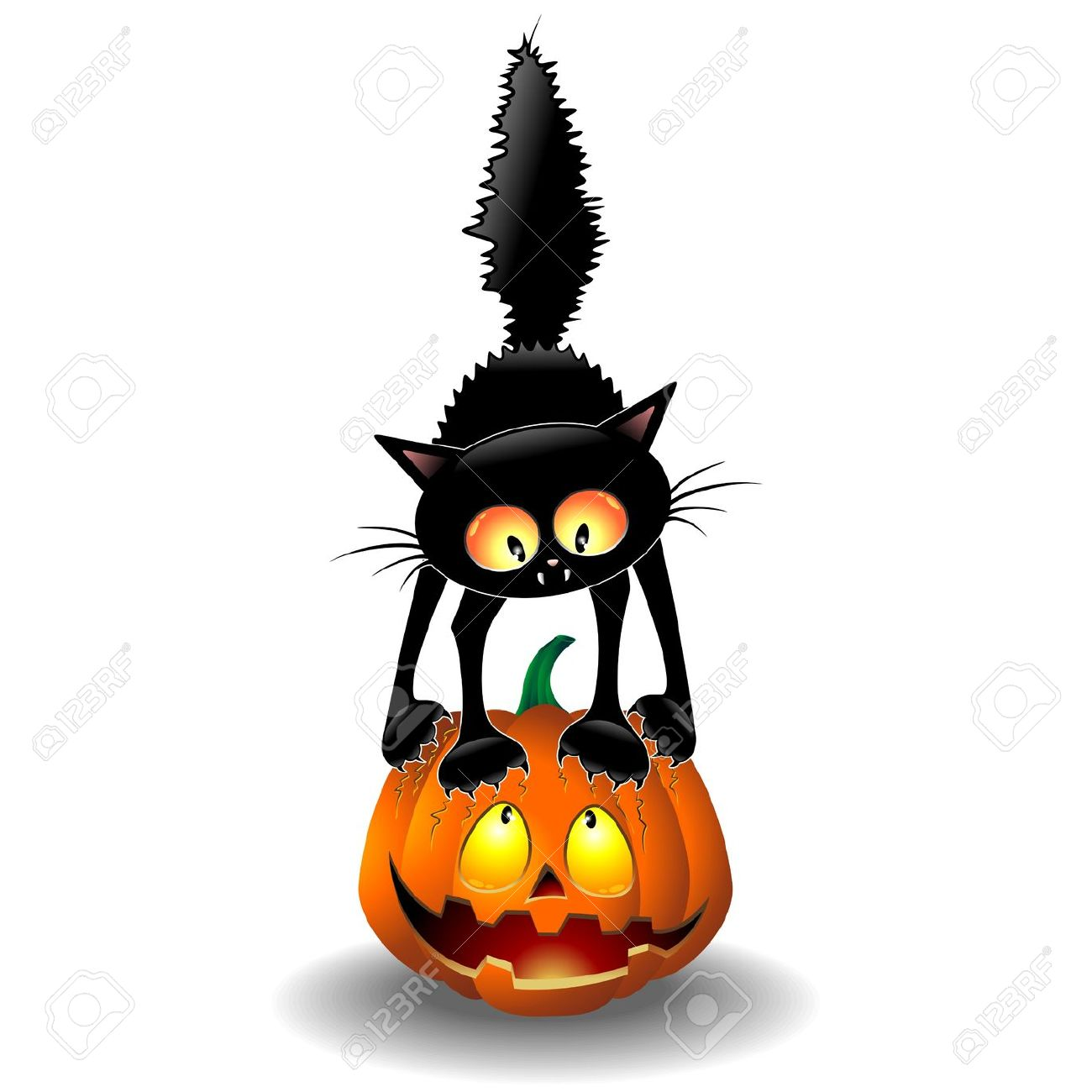 13,515 Halloween Cat Stock Illustrations, Cliparts And Royalty.