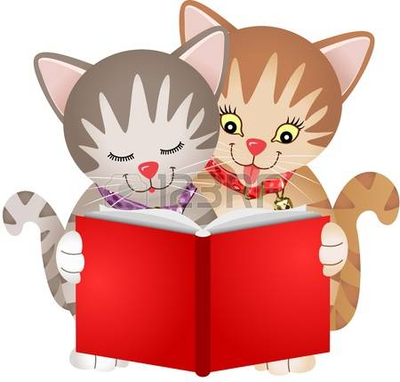 876 Reading Cat Stock Vector Illustration And Royalty Free Reading.