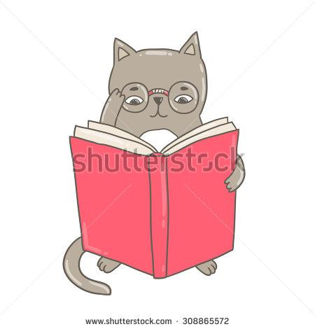 Cat Reading Stock Vectors, Images & Vector Art.