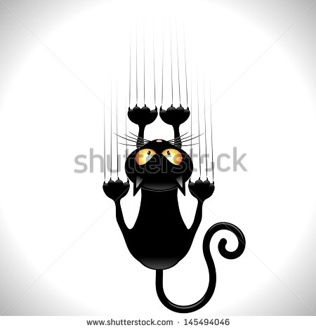 Cat Scratching Stock Images, Royalty.