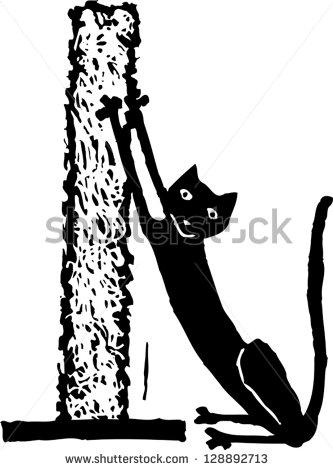 Cat Scratching Post Stock Vectors, Images & Vector Art.