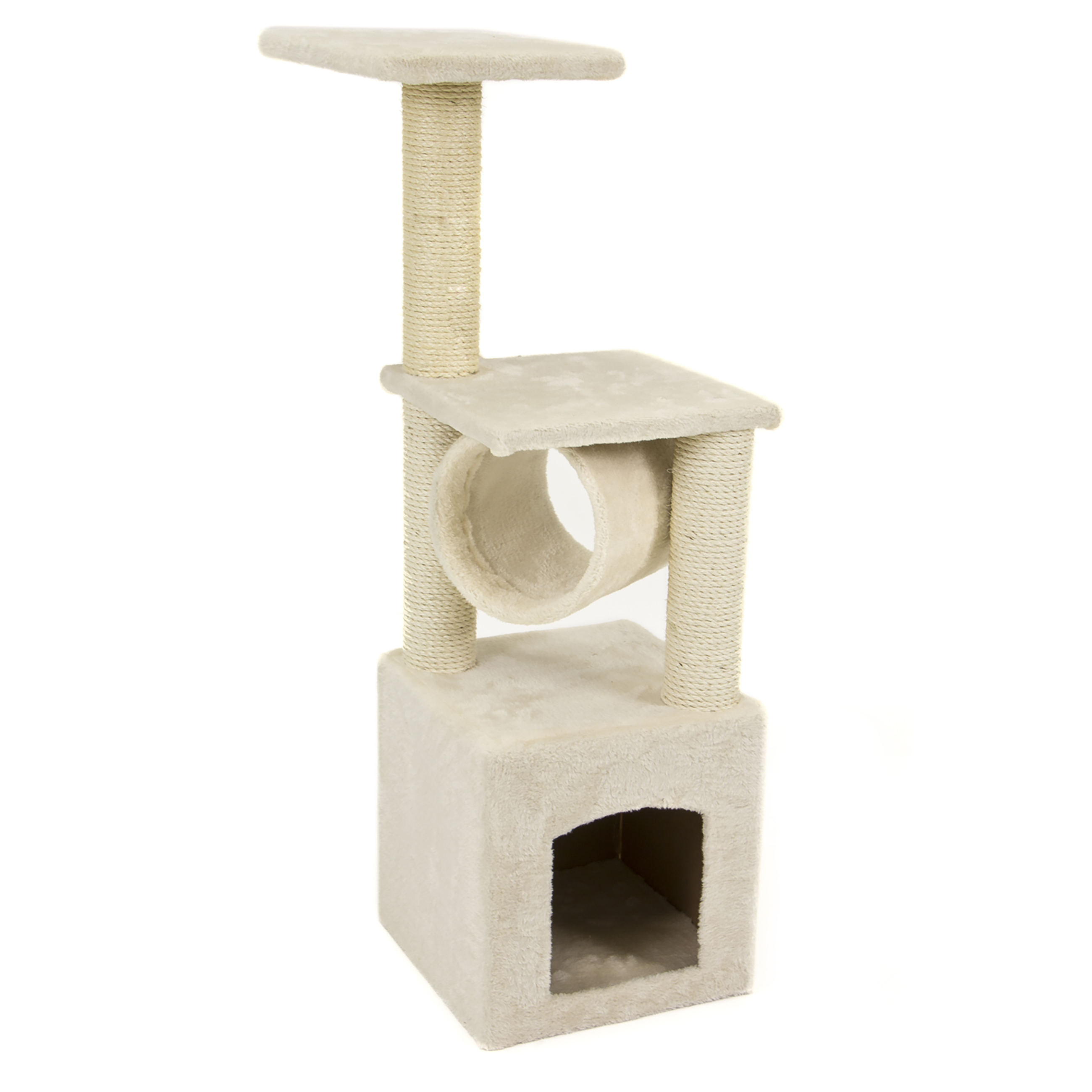 """Deluxe Cat Tree 36"""" Condo Furniture Scratching Post Pet House Play."""