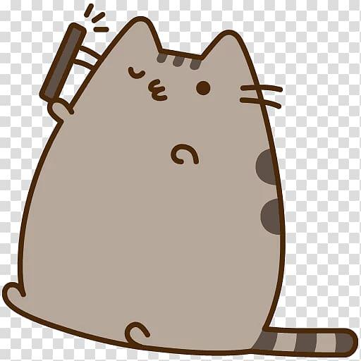 I Am Pusheen the Cat Selfie, Cat transparent background PNG.
