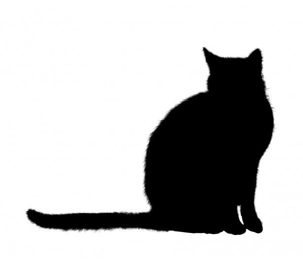Cat Silhouette Sitting Clipart Free Stock Photo.