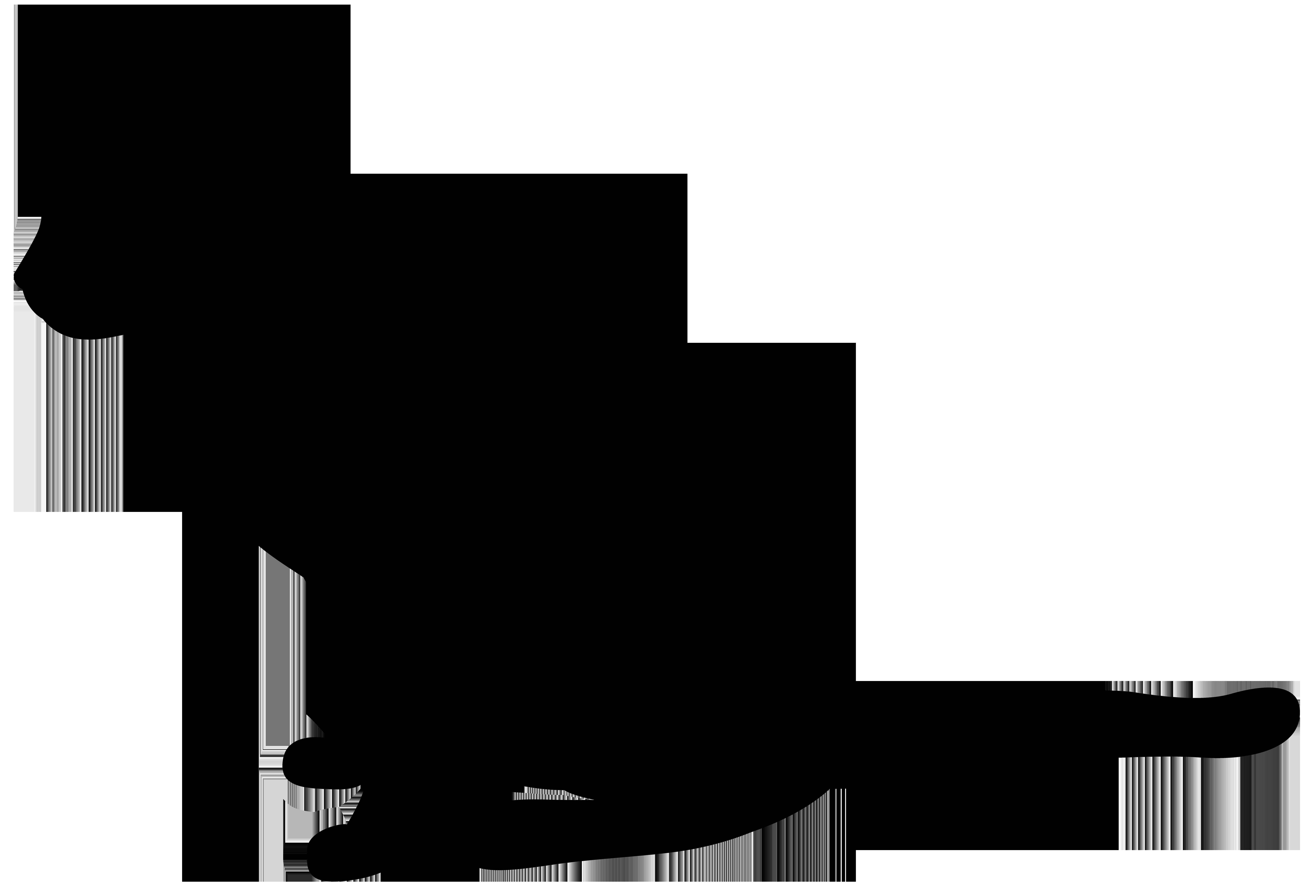Cat Silhouette PNG Clip Art Image.