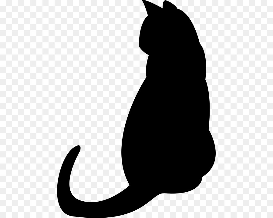Cat, Silhouette, Black, transparent png image & clipart free download.