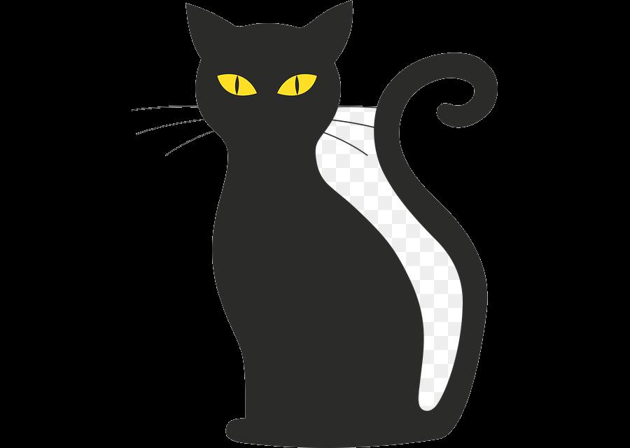 Black Cat Silhouette Clip Art Image Free Transparent Png.