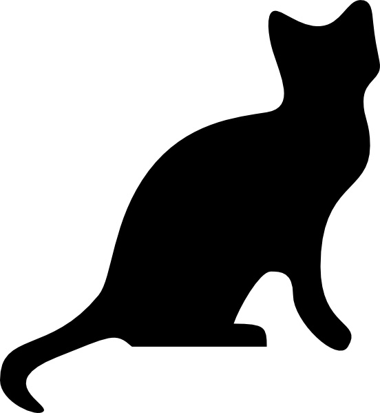 Cat Silhouette clip art Free vector in Open office drawing svg.
