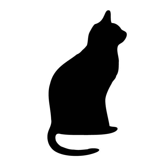 CAT OUTLINE CLIP ART.