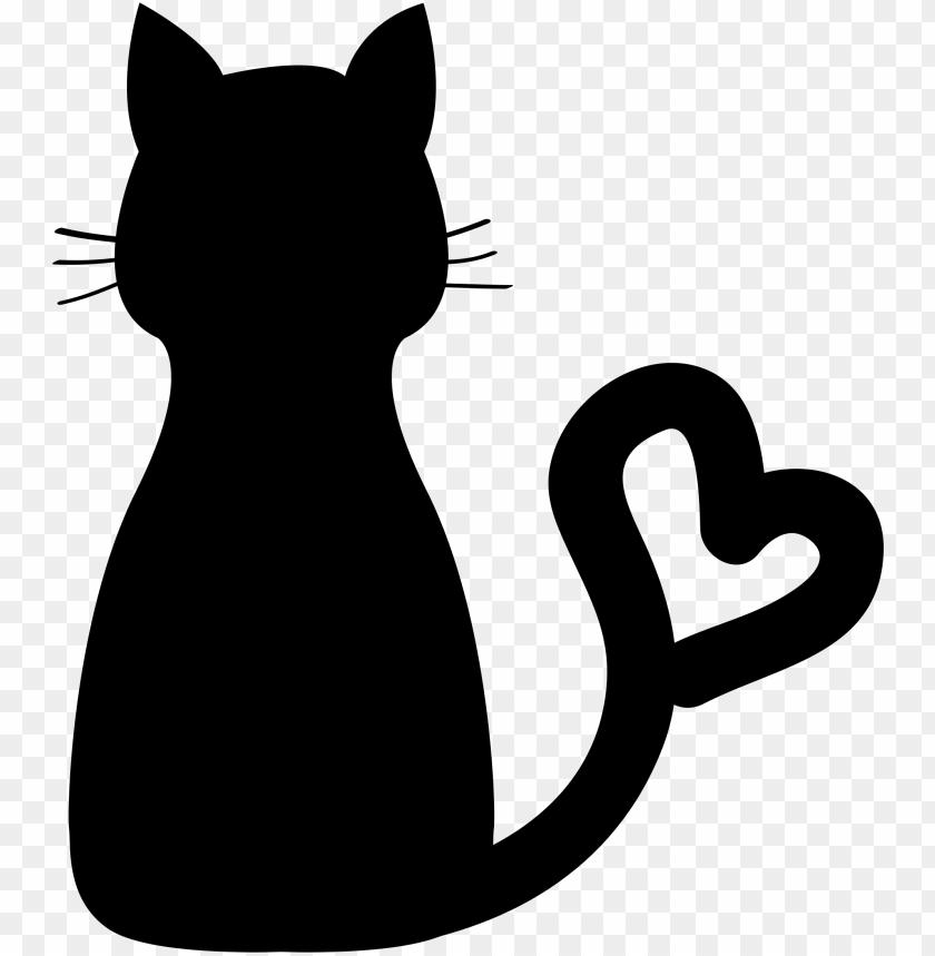 heart and cat clip art.