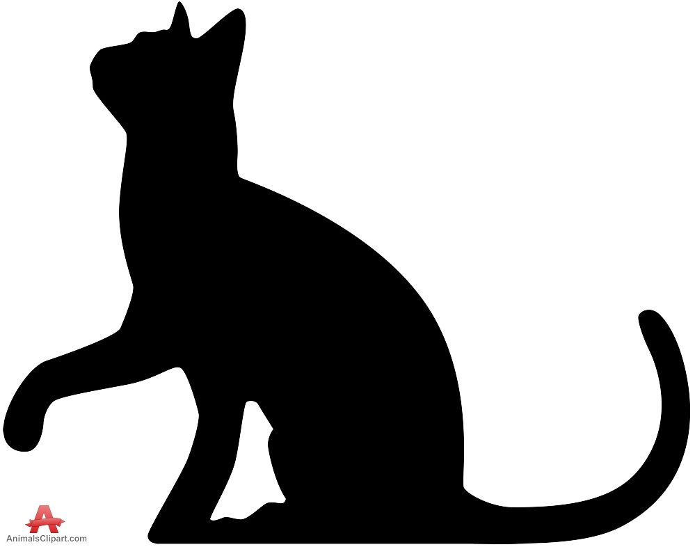 Cat Clipart Silhouette.
