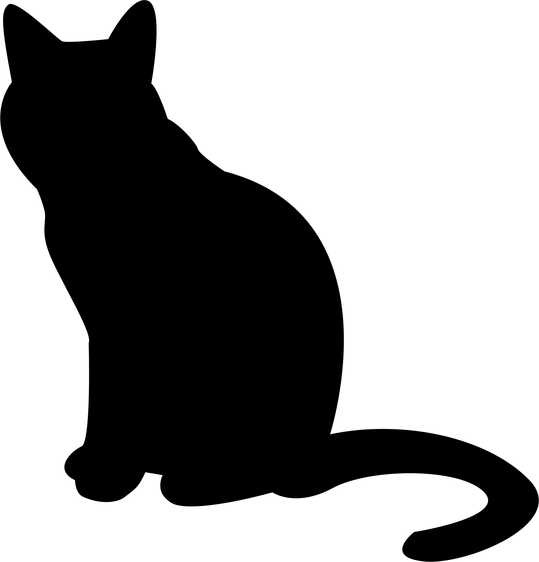 Cat Silhouette transparent PNG.