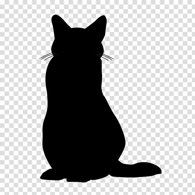 Cat Silhouette , animal illustration transparent background PNG.