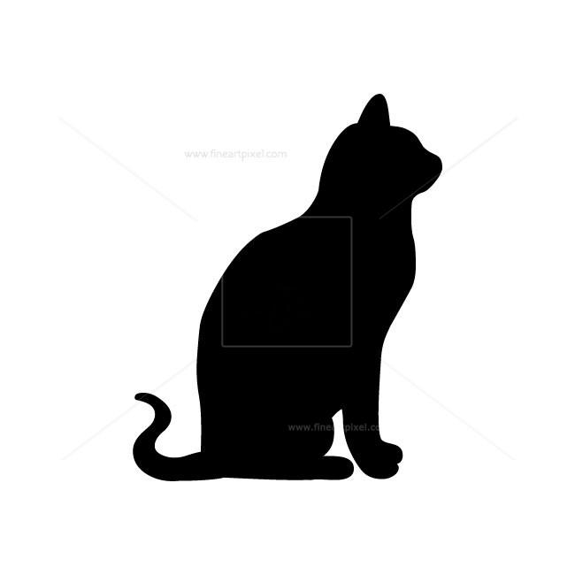 Cat silhouette.