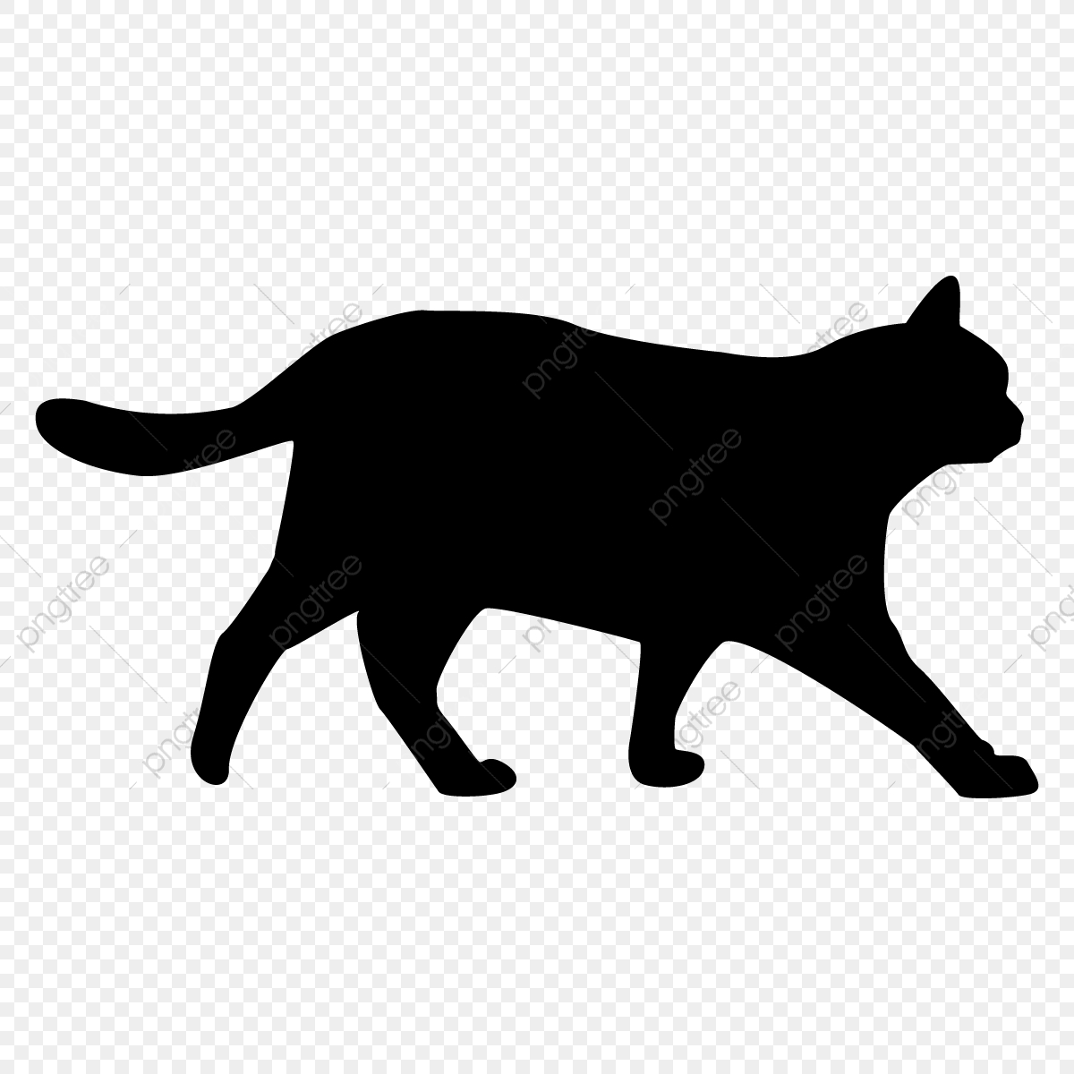 Cat Silhouette Png, Cat, Png, Cat Silhouette PNG and Vector with.