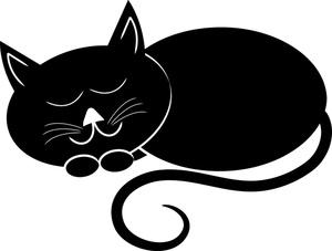 Funny Cat Sleeping Clip Art.