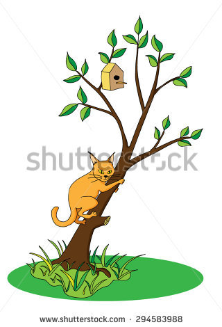 Cat Tree Stock Images, Royalty.