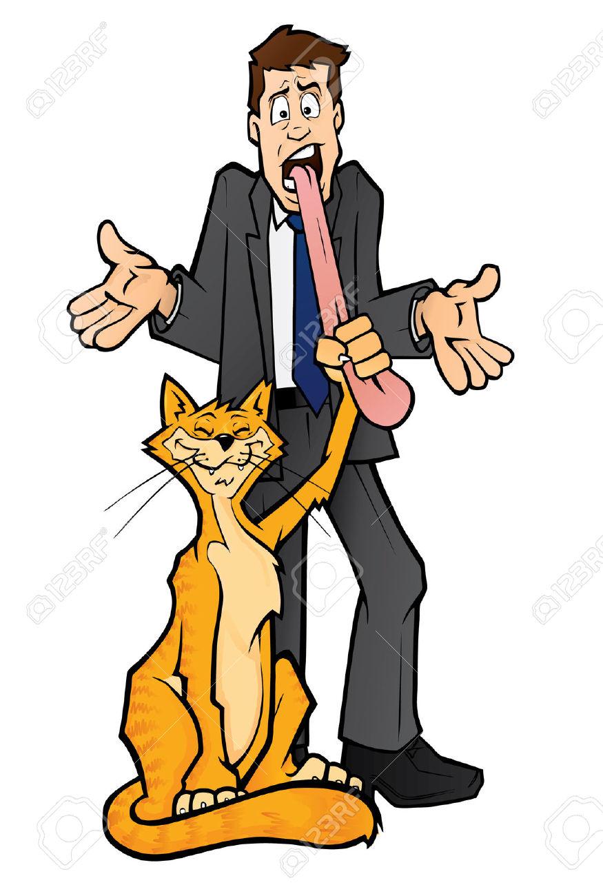 Cat Got Your Tongue Illustration Royalty Free Cliparts, Vectors.