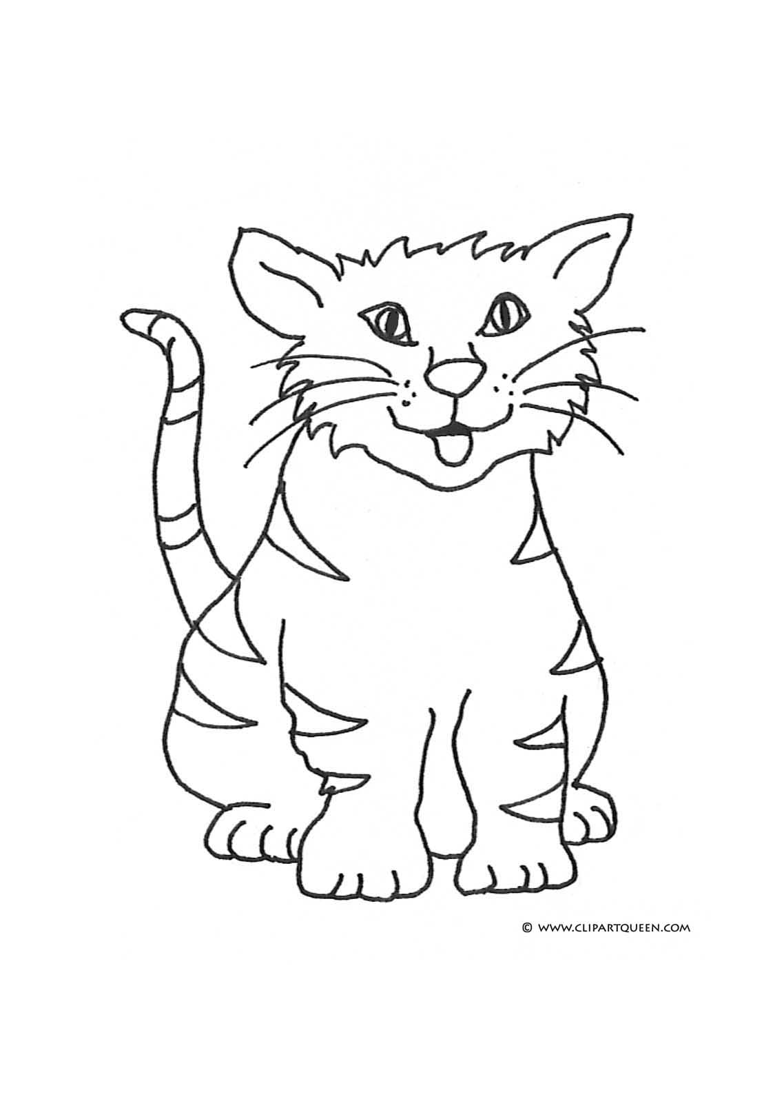 Cat Coloring Pages.