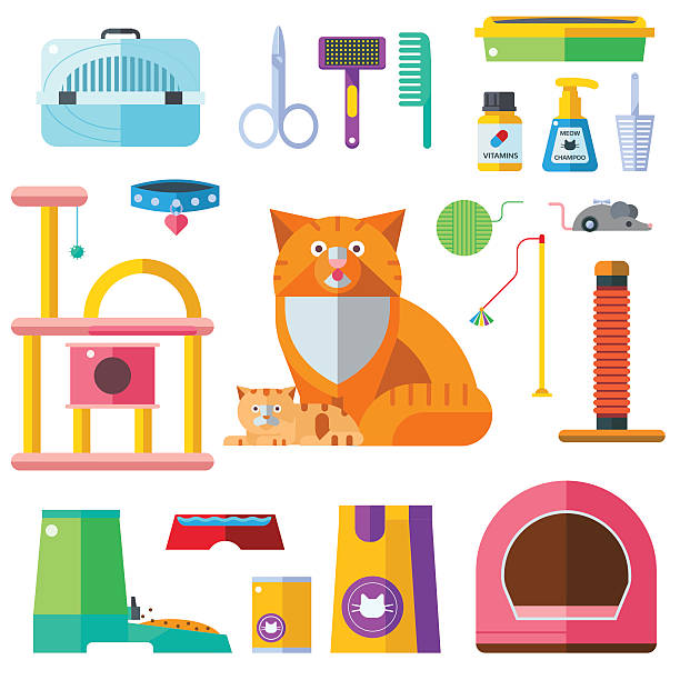 Top 60 Cat Toy Clip Art, Vector Graphics and Illustrations.