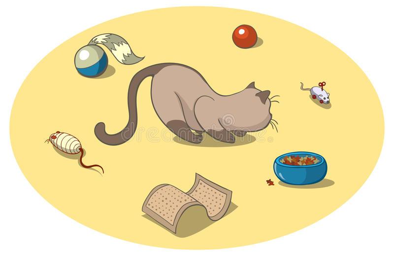 Cat Toys Stock Illustrations.