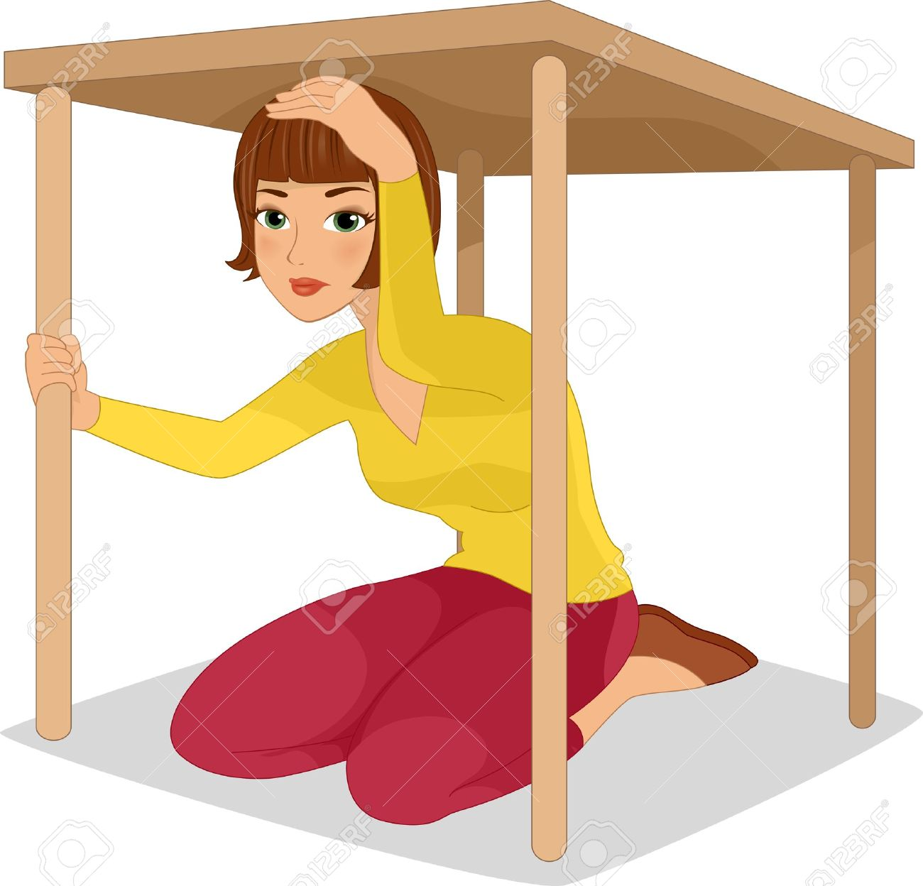 Under The Table Clipart.
