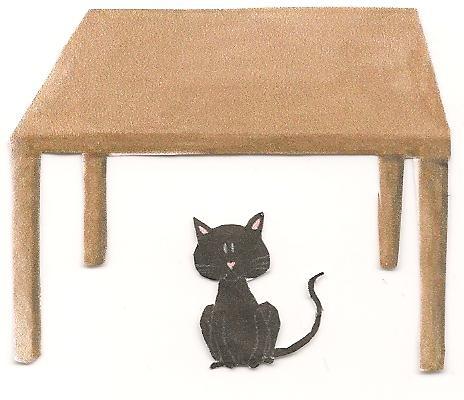 Black Cat Sat On Desk