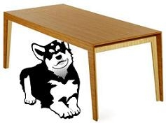 Dog Under The Table Clipart.