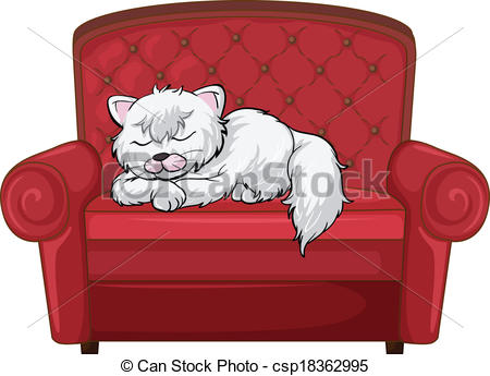 EPS Vectors of A cat sleeping soundly at the chair.