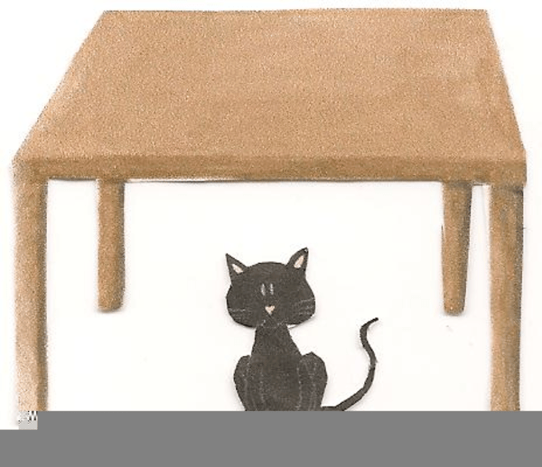 Cat under the table clipart 1 » Clipart Portal.